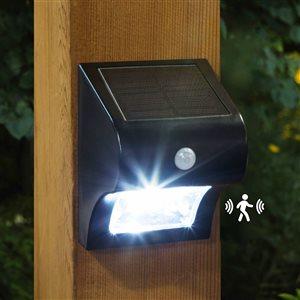 Lampe solaire pour patio et mur avec capteur de mouvement
