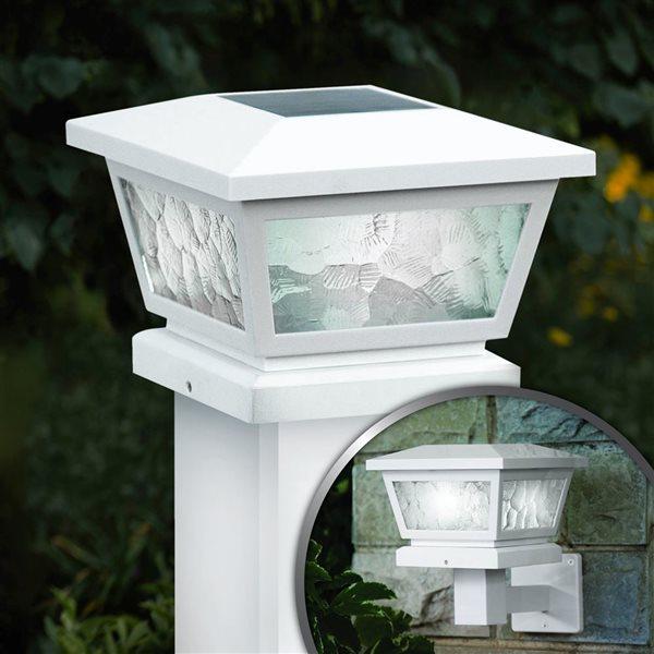 Capuchon de poteau solaire Fairmont, blanc
