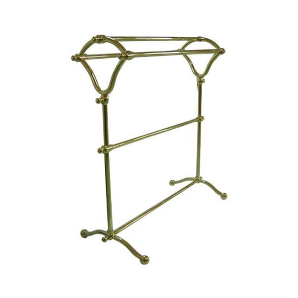 Elements of Design Vintage Polished Brass Freestanding Towel Rack