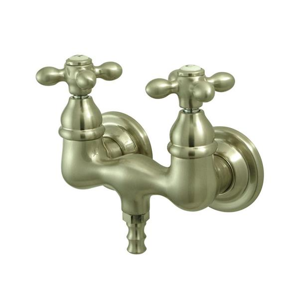 Elements of Design Vintage Nickel Wall Mount Bathtub Faucet