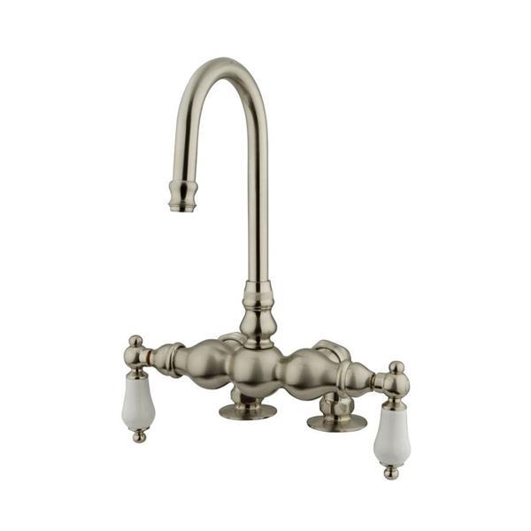 Elements of Design Hot Springs Nickel Freestanding Bathtub Faucet