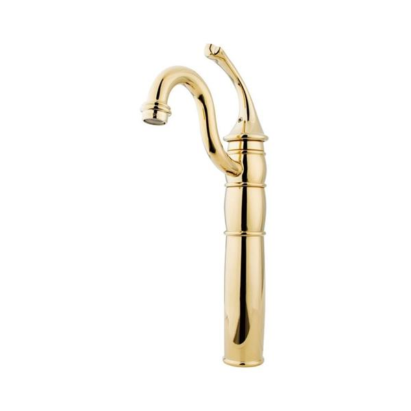 Elements of Design Georgian 14.69-in Polished Brass 1-Handle Single Hole Bathroom Sink Faucet