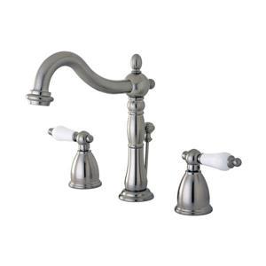 Elements of Design New Orleans Satin Nickel 2-Handle Widespread Deck Mount Bathroom Sink