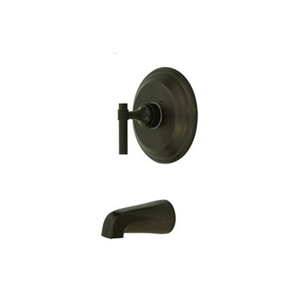 Elements of Design Milano Bronze Wall Mount Bathtub Faucet