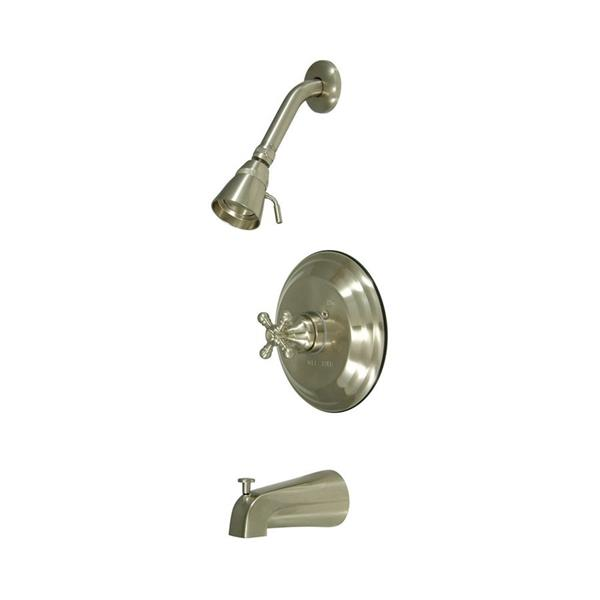 Elements of Design New York Satin Nickel 1 Handle Bathtub and Shower Faucet with Valve