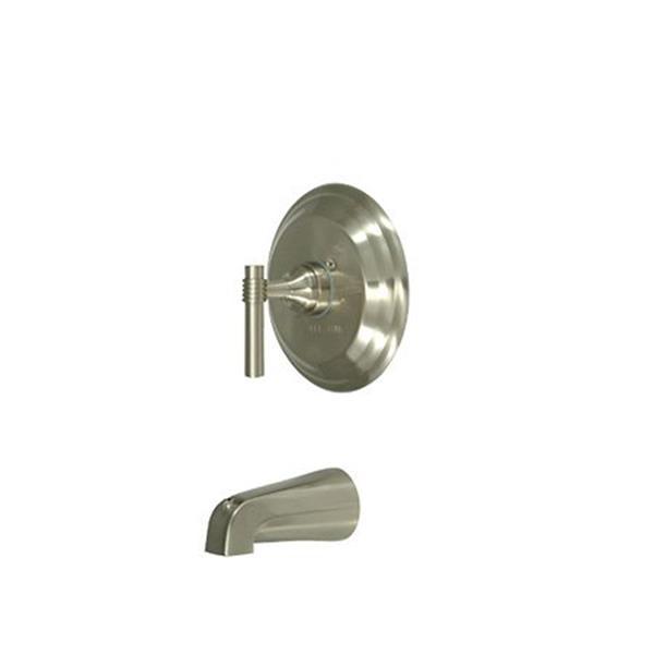 Elements of Design Milano Nickel Wall Mount Bathtub Faucet