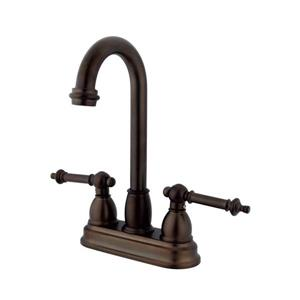 Elements of Design Chicago Oil-Rubbed Bronze 10-in 2-Lever Handle High-Arc Deck Mount Kitchen Faucet