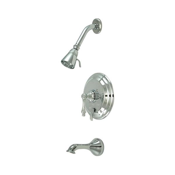 Elements of Design New Orleans Chrome 1 Handle Bathtub and Shower Faucet with Valve