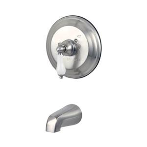 Elements of Design St. Louis Nickel Wall Mount Bathtub Faucet