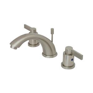 Elements of Design NuvoFusion Satin Nickel 2-Handle Widespread Deck Mount Bathroom Sink Faucet With Drain