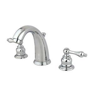 Elements of Design Magellan Chrome 2 Handle Widespread Deck Mount Bathroom Faucet with Drain