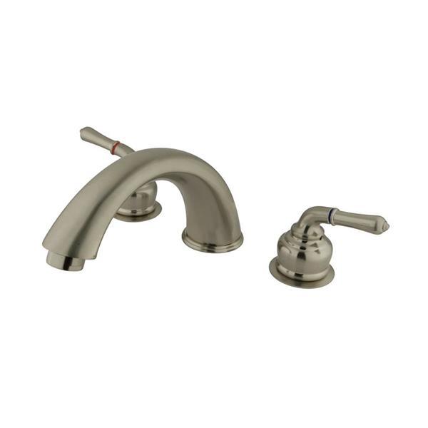 Elements of Design Magellan Nickel Deck Mount Bathtub Faucet