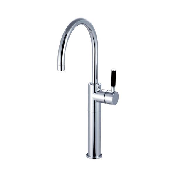Elements of Design Kaiser Polished Chrome 18.75-in Lever-Handle Deck Mount High-Arc Kitchen Faucet