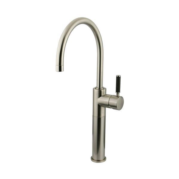 Elements of Design Kaiser Satin Nickel 18.75-in Lever-Handle Deck Mount High-Arc Kitchen Faucet