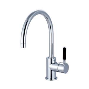 Elements of Design Kaiser Polished Chrome 12.75-in Lever-Handle Deck Mount High-Arc Kitchen Faucet