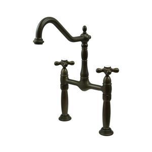 Elements of Design Victorian Dark Bronze 2-Handle Vessel Deck Mount Bathroom Faucet