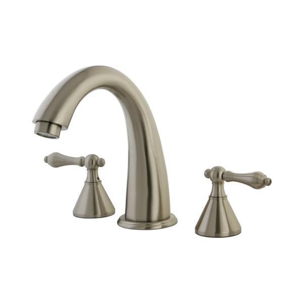 Elements of Design Nickel Deck Mount Bathtub Faucet