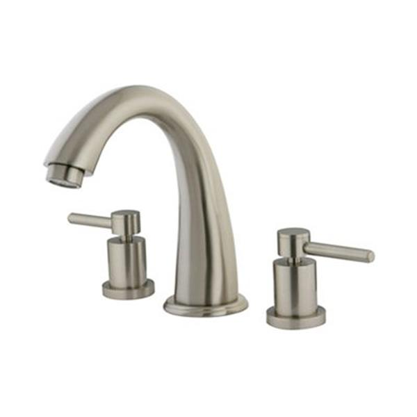 Elements of Design NuVo Nickel Deck Mount Bathtub Faucet