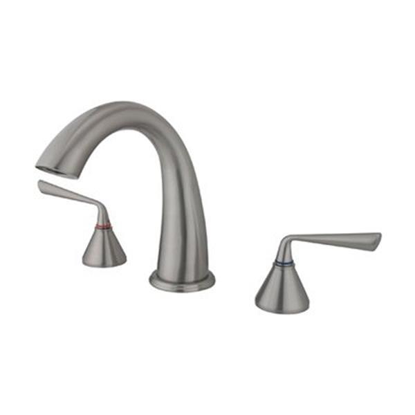 Elements of Design Silver Sage Nickel Deck Mount Bathtub Faucet