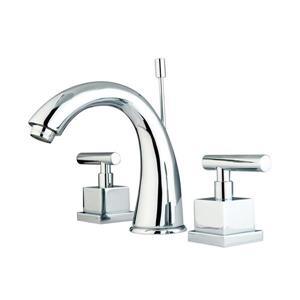 Elements of Design Claremont Chrome Metal Lever Handle Widespread Bathroom Sink Faucet