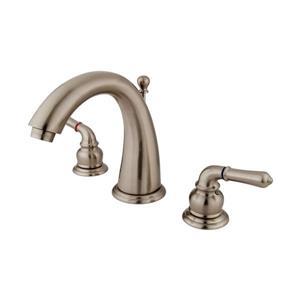 Elements of Design Satin Nickel Modern Lever Handle Widespread Bathroom Sink Faucet