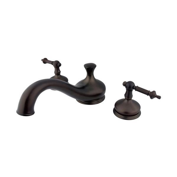 Elements of Design Hot Springs Bronze Deck Mount Bathtub Faucet