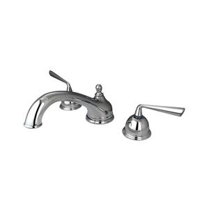 Elements of Design Silver Sage Chrome Deck Mount Bathtub Faucet