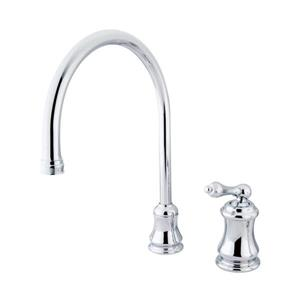 Elements of Design Chicago Chrome 1-Handle Deck Mount High-Arc Kitchen Faucet