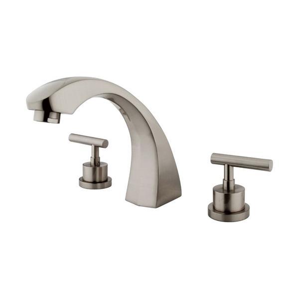Elements of Design Manhattan Nickel Deck Mount Bathtub Faucet