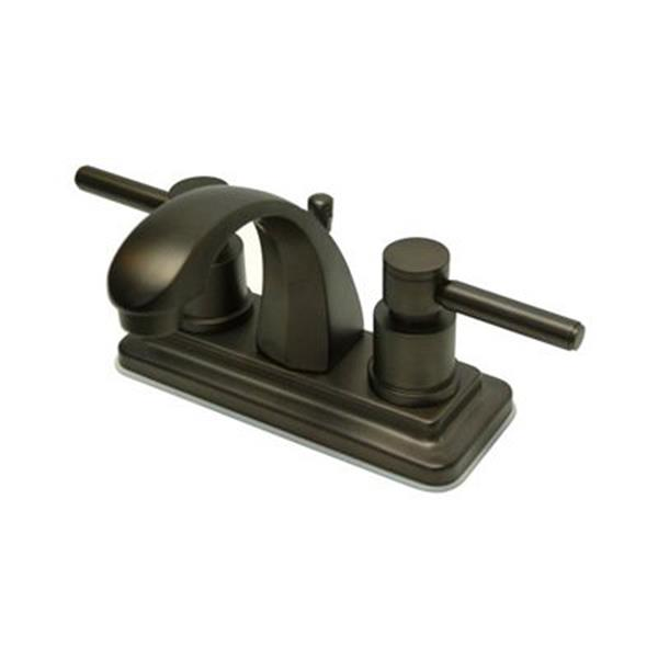 Elements of Design Concord 4-in Oil-Rubbed Bronze 2-Handle Centerset Bathroom Faucet