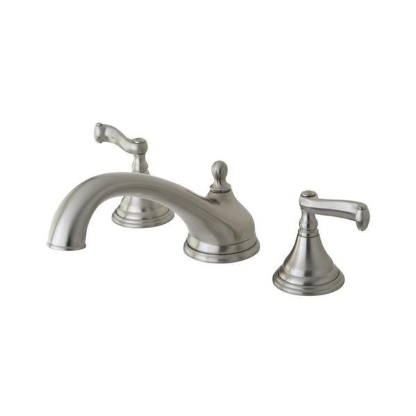 Elements of Design Atlanta Nickel Deck Mount Bathtub Faucet