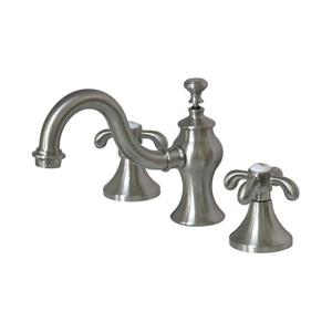 Elements of Design French Country Satin Nickel 2-Handle Widespread Bathroom Sink Faucet