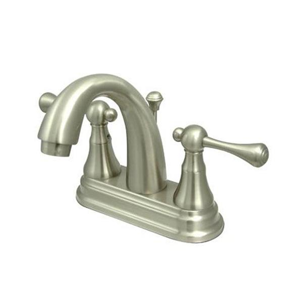 Elements of Design English Vintage 4-in Satin Nickel 2 Handle  Centerset Bathroom Fauce