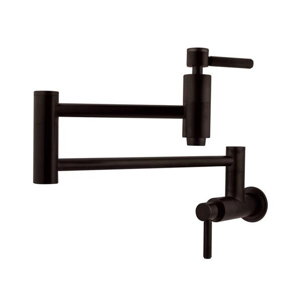 Elements of Design Concord Oil Rubbed Bronze 8.31-in 1-Handle Wall Mount Bar and Prep Kitchen Faucet