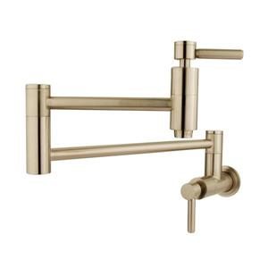 Elements of Design Concord Satin Nickel 8.31-in 2-Handle Wall Mount Bar and Prep Kitchen Faucet