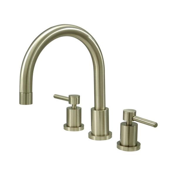 Elements of Design Concord Nickel Deck Mount Bathtub Faucet