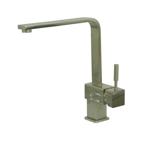 Elements of Design Concord Satin Nickel 11.38-in 1-Handle Deck Mount High-Arc Kitchen Faucet