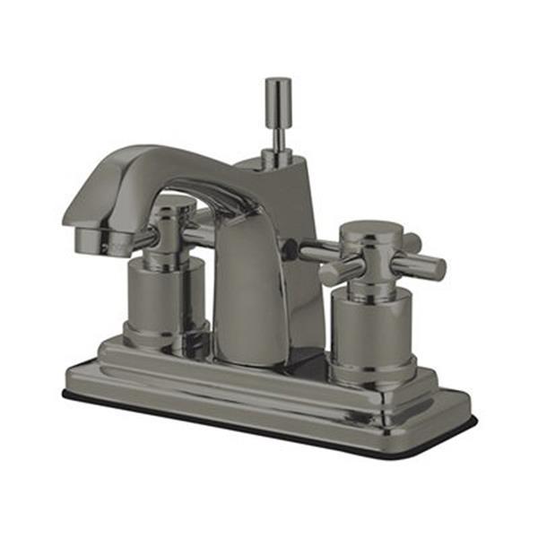 Elements of Design Concord Satin Nickel 2 Handle 4-in Centerset Bathroom Faucet (Drain Included)