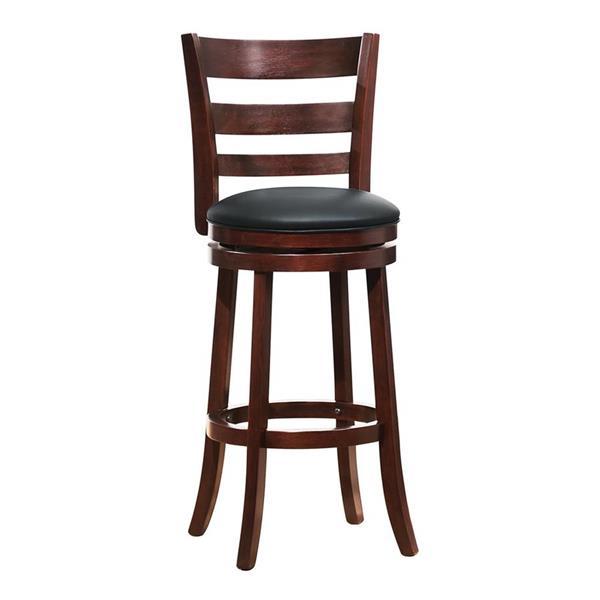 Super Homelegance Edmond 29 In Dark Cherry Swivel Pub Chair 1144E Machost Co Dining Chair Design Ideas Machostcouk