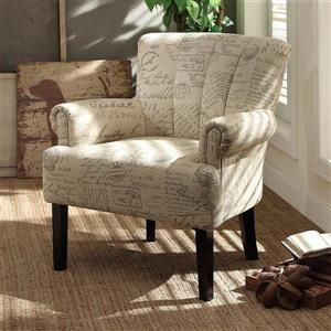 Homelegance Langdale French Note Cotton Accent Chair