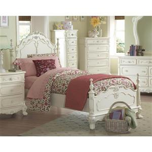 Homelegance Cinderella White Victorian Twin Bed Frame