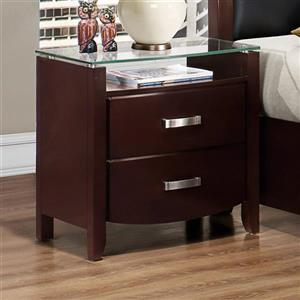 Homelegance Lyric Dark Espresso Asian Hardwood Nightstand