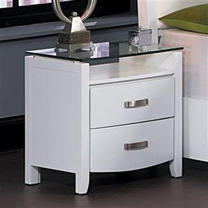 Homelegance Lyric Nightstand  23.5-in x 28.5-in x 24.5-in White