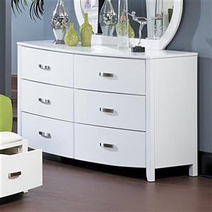 Homelegance White 6-Drawer Double Dresser