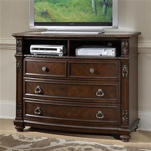 Homelegance Hillcrest Manor Rich Cherry TV Cabinet