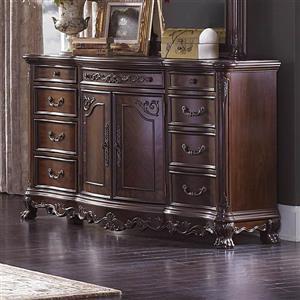 Homelegance Deryn Park 38.25-in x 67.75-in Medium Cherry 8-Drawer Combo Dresser