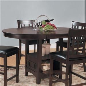 Homelegance Junipero Dark cherry Composite Round Extending Counter Table
