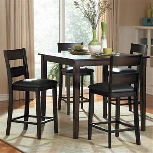 Homelegance Griffin Burnished Brown 36-in x 40-in Counter Height Dining Set