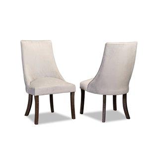HomeTrend Dandelion Soft Grey Side Chairs (Set of 2)