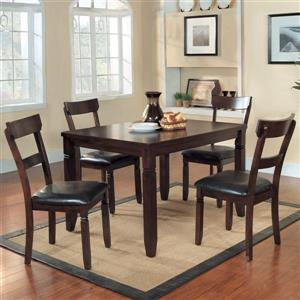 Homelegance Oklahoma 30-in x 48-in Espresso 5-Piece Dining Set